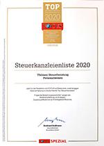 Auszeichnung Focus 2020 Thömen Steuerberatung Personalwesen